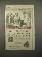 1913 Kranich & Bach Player & Grand Piano Ad