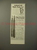 1913 Parker No 23 1/2, 20 Fountain Pen Ad - Leakproof
