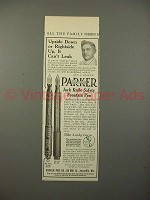 1913 Parker No 23 1/2, 20 Fountain Pen Ad - Can't Leak