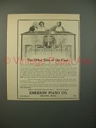 1914 Emerson Player Piano Ad - Other Side of Case