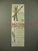 1914 Parker No 14, 20, 33 Fountain Pen Ad - A Gift!