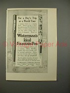 1914 Waterman's Ideal Fountain Pen Ad - World Tour