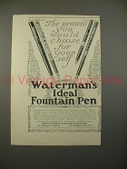 1914 Waterman's No 12, 412, 12 1/2, 14 Pen Ad!