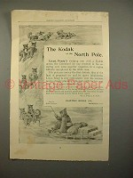 1893 Kodak Camera Ad - Lieut. Peary, North Pole