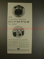 1957 Olympus 35-S Camera Ad - What Tremendous Advances!