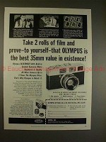 1959 Olympus Auto Electro Set Camera Ad - Take 2 Rolls!