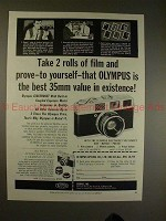 1960 Olympus Auto Electro Set Camera Ad - Take 2 Rolls!