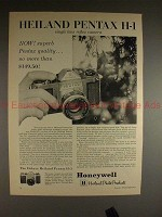 1961 Heiland Pentax H-1 Camera Ad - Superb Quality!!