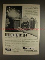 1961 Heiland Pentax H-3 Camera Ad - Superb SLR Camera!!
