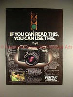 1979 Pentax MV Camera Ad - If You Read, You can Use!