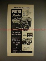 1960 Petri Penta SLR 35mm Camera Ad - Your Best Buy!!