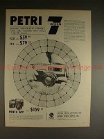 1961 Petri 7 & Penta V2 Camera Ad - Circle Eye System!!