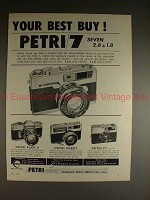 1962 Petri 7, Flex V, Prest and 17 Camera Ad - Best Buy