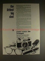 1969 Petri Color 35 Midget Camera Ad, Littlest Big Shot