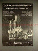 1971 Petri FT EE Camera Ad - Built-in Alternative!