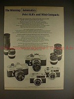 1972 Petri FT EE, FT II, Color 35 E, Color 35 Camera Ad