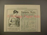 1895 Equipoise Waist Corset Ad - Points About