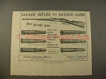 1897 Savage .303 Carbine Rifle, Gun Cartridges Ad!