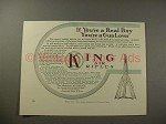 1909 King Air Rifle Ad - Real Boy a Gun Lover