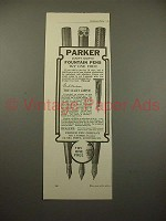 1909 Parker Lucky Curve Fountain Pen Ad - NICE!