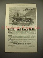 1909 Maxwell Four Cylinder 30 H.P. Touring Car Ad!
