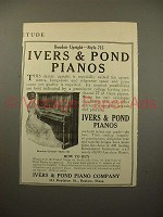1915 Ivers & Pond Boudoir Upright Style 715 Piano Ad!