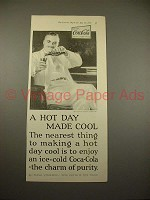 1925 Coca-Cola Coke Soda Ad - Hot Day Made Cool!