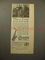 1926 Conn Ltd. Saxophone Ad - Get Ahead Socially