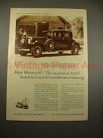 1930 Studebaker President Eight State Victoria Car Ad!