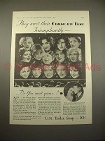 1930 Lux Soap Ad w/ 14 Movie Stars - Joan Crawford!
