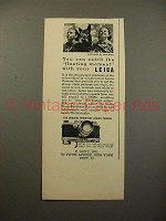 1938 Leica IIIb Camera Ad - Catch Fleeting Moment