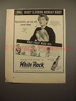 1942 White Rock Water Ad - Peggy Wood!