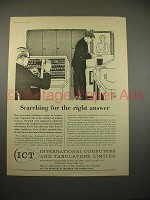 1959 ICT Computer Ad - Searching for Right Answer