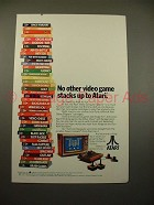 1980 Atari Computer Video Game Ad - No Other Stacks Up