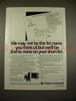 1983 Data General MV/10000 Computer System Ad!