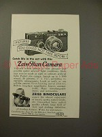 1934 Zeiss Contax Camera, Binoculars Ad - Catch Life