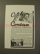 1936 Zeiss Contax Camera Ad - Catch It!