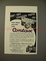 1937 Zeiss Contax Camera Ad - Don't Envy Photos