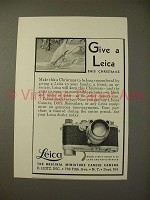 1937 Leica Model G Camera Ad - Give This Christmas!