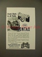 1938 Zeiss Contax Camera Ad - Crack Shots all Fields