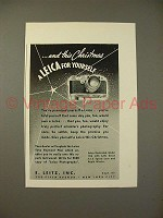 1938 Leica IIIb Camera Ad - For Yourself!