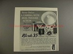 1956 Ricoh 35 Camera Ad - Never Before, Trigger Action!