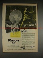 1956 Ricoh 35 Camera Ad - Ease! Precision! Value!!