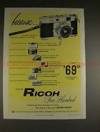 1957 Ricoh 500 Camera Ad - Cameras Selling 3x the Price