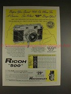 1957 Ricoh 500 Camera Ad - Before You Spend $100!!