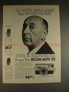 1960 Full-page Ricoh Auto 35 Camera Ad w/ Arthur Murray