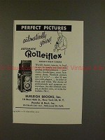 1953 Rollei Rolleiflex Camera Ad - Perfect Pictures!!