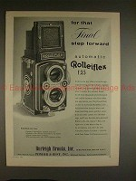 1955 Rollei Rolleiflex f:3.5 Camera Ad - Final Step!!