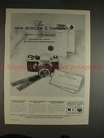 1960 Beseler C Topcon Camera Ad - Proof of Precision!!