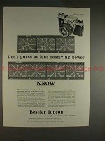 1961 Beseler C Topcon Camera Ad, Don't Guess at Power!